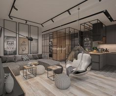 Condo Interior Design, Loft Design, Modern Minimalist, Interiores Design, New Homes, House, Furniture, Home Decor, Houses