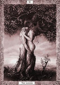 """""""The Lovers"""" tarot card -- I've always wanted a tat of this"""