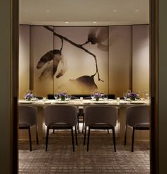 Yabu Pushelberg - Sophisticated Restaurant Clement Opens in New York's Peninsula Hotel- Private Dining Design Bar Restaurant, Restaurant Hotel, Best Interior Design, Top Interior Designers, Interior Design Living Room, Graphisches Design, Cafe Design, Design Hotel, Yabu Pushelberg