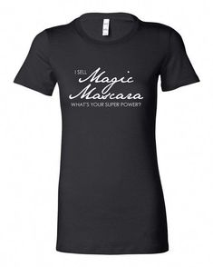 8c874efc25a68 Lashes Now Trending Black Mascara T-shirt White Lettering with Saying Small