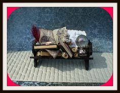 Gothic Witch Wizard Magic dollhouse miniature by MidnightsDreams, $17.50