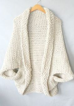 Free knitting pattern: Easy Knit Blanket Sweater by Mama in a Stitch The post Free knitting pattern: Easy Knit Blanket Sweater by Mama in a Stitch appeared first on Best Knitting Pattern. Shrug Knitting Pattern, Sweater Knitting Patterns, Knit Patterns, Free Knitting, Knitting Ideas, Knit Sweaters, Knitting Machine, Cardigan Pattern, Simple Knitting Patterns