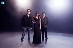 "The Vampire Diaries S6 Cast: Paul Wesley ""Stefan Salvatore,"" Nina Dobrev ""Elena Gilbert,"" Ian Somerhalder ""Damon Salvatore"""