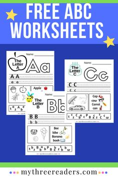 Alphabet printables for preschool letters - Grab these free printable alphabet sheets to print for practice with your little learner. French Alphabet, Alphabet Words, Alphabet Book, Free Printable Alphabet Worksheets, Abc Worksheets, Printables, Teaching The Alphabet, Teaching Reading, Teaching Spanish
