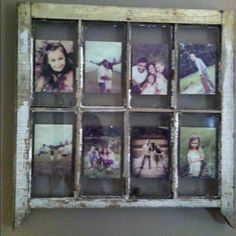 My diy project... Old window used as picture frame.