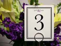 20 Piece  Table Numbers Wedding Custom by PaperHeartPrint on Etsy, $28.00