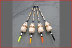 2SSG These very buoyant floats are great for long trotting larger baits such as prawn or lob worm, and carry a good amount of shot to get the bait down quickly These floats are made to order - please allow 7 days for delivery Suitable for: River trotting (worm and prawn) Barbel, Perch, Chub,Grayling and Trout Materials: The float is made from balsa and cork with a cane stem. Bottom eyelet is fitted Cocking Weig...