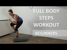 20 Minute Full Body Steps Workout – Beginners Cardio Step Up Training Routine Step Aerobic Workout, Step Up Workout, Aerobics Workout, Fit Board Workouts, Fun Workouts, Daily Workouts, Beginners Cardio, Benefits Of Cardio, Step Aerobics