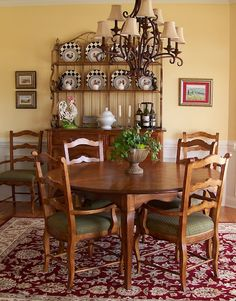 bakers rack - top used over a buffet Dining Rooms, Kitchen Dining, Bakers Rack, Home Kitchens, French Country, Buffet, Cabinets, Bookcase, Room Ideas