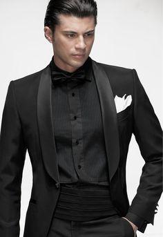 all black suit white bow tieTuxedo   Italian Formal Wear   Model  BT08  183  Ottavio Nuccio 97tCRDdf