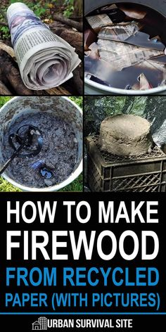 Firewood from recycled paper is easy to make and, once you have a basic setup, you make the stuff on a regular basis whenever the paper piles up. easy, How To Make Firewood From Recycled Paper (With Pictures) Urban Survival, Homestead Survival, Wilderness Survival, Camping Survival, Survival Prepping, Emergency Preparedness, Survival Gear, Survival Skills, Survival Hacks