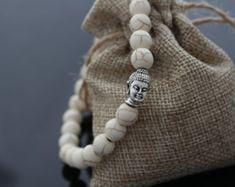 Pulsera de cabeza de Buda, Buda pulsera, pulsera de Yoga, curandero y espiritual pulseras, pulseras de abalorios