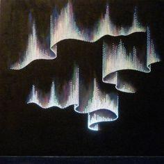"Saatchi Art Artist: Sibilla Bjarnason; Acrylic 2012 Painting ""Aurora borealis"""