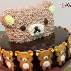 The Best Rilakkuma Treats on the Planet Japanese Food Art, Japanese Candy, Sweet Cakes, Cute Cakes, Beautiful Cakes, Amazing Cakes, Rilakkuma Cake, Chocolate Flowers Bouquet, Kawaii Dessert