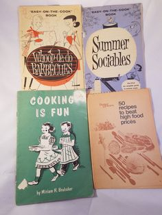Vintage Cookbooks Booklets Lot of 4 BBQ by MaricopaTradingPost