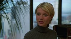 Have any of you seen this movie – A Perfect Murder? I first saw it when it came out in 1998 and I remember at the time thinking how glamorous Gwyneth Paltrow's wardrobe and haircut was … A Perfect Murder, Short Hair Cuts, Short Hair Styles, Plain White Shirt, Turtleneck Outfit, Gwyneth Paltrow, Her Style, Amazing Women, Celebrity Style