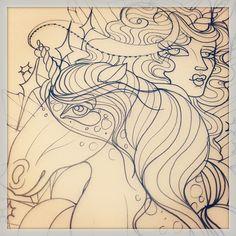 @rachel_baldwin_tattoos (Rachel Baldwin) Sketcheroo peekaboo for Sara tomorrow!