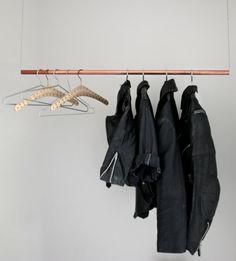 schlichte hängende Kleiderständer selber bauen