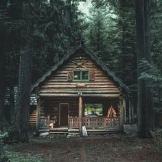 My dream cabin in the woods. Hopefully propped up in VT. My dream cabin in the woods. Hopefully propped up in VT. Ideas De Cabina, Log Cabin Homes, Log Cabins, Mountain Cabins, Rustic Cabins, Log Cabin Exterior, Forest Mountain, Mountain Homes, Cabin In The Woods