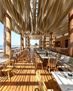 BarBuoni Restaurant By K Studio Barbouni Is A Restaurant . Hommie: Barbouni Restaurant By K Studio. Outdoor Restaurant Styles And Ideas Inspiration Ideas . Home and Family Design Bar Restaurant, Decoration Restaurant, Deco Restaurant, Outdoor Restaurant, Restaurant Ideas, Wooden Table Restaurant, Restaurant On The Beach, Luxury Restaurant, Bar Design Awards