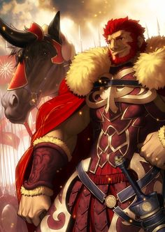 Alexander the Great(Iskandar)- Fate/Zero Fate Zero, Fate/stay Night, Alexandre Le Grand, Fate Characters, Film D'animation, Fate Anime Series, Great Logos, Alexander The Great, Manga