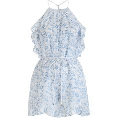 ZIMMERMANN Zephyr Vine Halter Playsuit (€165) ❤ liked on Polyvore featuring jumpsuits, rompers, dresses, playsuits, vestidos, ruffle rompers, cotton romper, halter jumpsuit, cotton jumpsuit and white jumpsuit