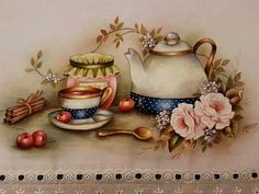 Good Afternoon sister,enjoy your Afternoon ,xxx❤❤❤💌 Decoupage Vintage, Decoupage Paper, Mug Cozy, Shabby Chic Crafts, Tea Box, Country Art, Country Kitchen, Needlepoint Kits, Modern Cross Stitch