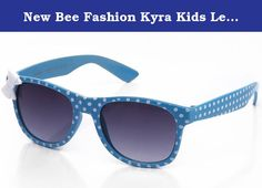 "New Bee Fashion Kyra Kids Lead Free Polka Dot Bow Plastic Sunglasses in Blue. Style: ""Polka Dot"" Summer fun! Great for kids of all ages, perfect fit with bow. *FREE Soft Pouch Included *Polycarbonate Lenses: Impact Resistant, Lighter, UV Protection *UV400 Protection *Ships FREE and FAST from Newbee Fashion® > Newbee Fashion® provides superb customer service with affordable high quality products. With each pair of glasses, including our clear lens series, you will be protected by the best..."