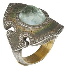 Sevan Bicakci Eye Of Wisdom Ring with Blue Topaz (Blue Topaz)... ($10,790) ❤ liked on Polyvore