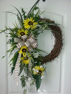 Grapevine wreath W/ sunflower by kyong