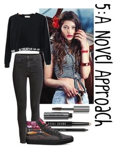 """5: A Novel Approach"" by teddy-bear-princess on Polyvore featuring Mode, Magdalena, H&M, Bobbi Brown Cosmetics und Vans"