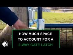 🐴 2-Way Gate Latch Installation Tip - YouTube