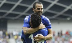 Diego Costa and Cesc Fabregas start for Chelsea in pre-season friendly  The 27-year-old made his first appearance for Chelsea in their 2-1 friendly win over NK Olimpija Ljubljana and looked impressive alongside fellow debutant Diego Costa   Sports @ www.royalewin.com