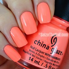 China Glaze FLIP FLOP FANTASY~ coral-ish peachy orange neon pastel. Bright Summer Nail Polish.