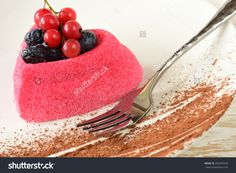Cake sweet heart. Red cake with berries. Valentines day images. Cake photography. Stock photography, images, pictures, Illustrations. Cake Images Download. Sweet food is gourmet. Festive dessert.