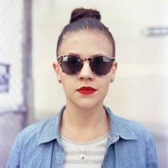 glasses (pelado.) Tags: sanfrancisco woman 120 6x6 film mamiyac330 portra400