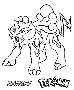 Raikou Pokemon Colouring Pages