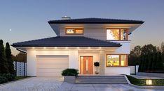 Karat - zdjęcie 1 House Layout Plans, House Layouts, House Plans, Plans Architecture, Architecture Design, Best Modern House Design, Modern Design, Facade House, Home Design Plans