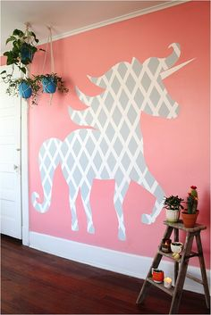 DIY Geometric Unicorn Wall