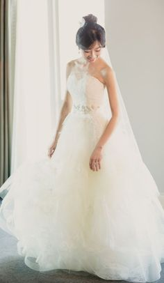 Wedding dress idea; Featured Photographer: Kristin La Voie Photography