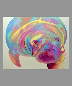 Hugh manatee florida springs ocean sea water zoo by jennseeleyart Manatee Florida, Sea Cow, Fish Art, Zoo Animals, Beach Art, Sea Creatures, Art Photography, Art Prints, Florida Springs