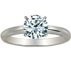 Expensive Jewelry : 1 1/4 Carat Round Cut Diamond Solitaire Engagement...