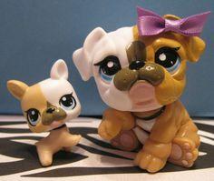 littlest pet shop bulldog and baby