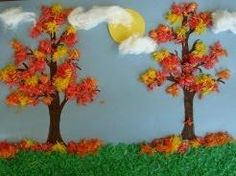 Sensory Fall Scene Craft is part of Autumn crafts Tree This touch and feel fall scene from Busy Bee Kids Crafts is just gorgeous and we know your little crafters will have a great time creating the - Autumn Crafts, Fall Crafts For Kids, Autumn Art, Thanksgiving Crafts, Autumn Theme, Holiday Crafts, Art For Kids, Craft Kids, Craft Art