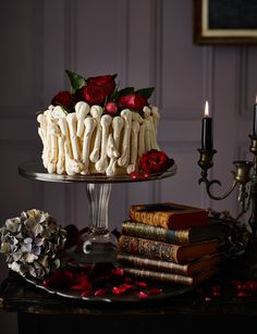 Bridezilla cake - Though white chocolate ordinarily belongs in heavenly realms, this white chocolate bridezilla cake couldn't be more hellish. From its ghoulish appearance, to the ghostly crunch of the meringue bones, this is a cake that will haunt your dreams. John Whaite's cake is perfect for your Halloween party!