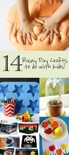 14 Rainy Day Crafts to do with Kids! When my nephew visits: )