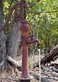 I remember my great grandfather taking my brothers and I to pump water from a pump just like this one.best water in the world of course.especially after all of that work. Old Water Pumps, Pump It Up, Farms Living, Water Well, Milk Cans, Vintage Farm, Old Farm, Country Farm, Farm Life