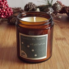 MISTLETOE Soy Candle by candlesbynature on Etsy Makes a great Christmas gift! $5.40 on Etsy