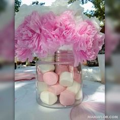 Buena opcion para decorar un bautizo o baby shower.like this but in a nutral color for a bautizo for boy or for a girls bday party in teal/purple Baptism Party, Baby Party, Baptism Favors, Baptism Ideas, Shower Bebe, Baby Boy Shower, Baby Shower Favors, Baby Shower Parties, Trendy Baby