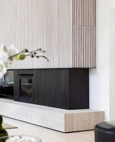 31 Stunning Modern Fireplace Design Ideas 31 Stunning Mode Home Deco contemporary fireplace Design Fireplace Ideas Mode Modern modernfireplaceideas Stunning Home Fireplace, Fireplace Surrounds, Fireplace Ideas, Contemporary Fireplace Designs, Modern Fireplaces, Contemporary Kitchens, Contemporary Bedroom, Timber Battens, Timber Walls